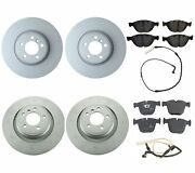 Genuine Front And Rear Brake Kit Disc Rotors Pads And Sensors For Bmw E65 Alpina B7