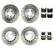 Genuine Front And Rear Brake Kit Disc Rotors And Pads For Bmw F87 M2 2016-2019