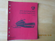 1972 Rupp Nitro Snowmobile Chassis Parts List Manual P/n 19789