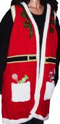 Womens Santa Mrs Claus Long Vest Ugly Christmas Sweater Party Plus Size 3x New