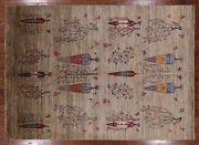 Handmade Tribal Gabbeh Area Rug 6and039 8 X 9and039 5 - Q3309