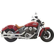 Bassani 2 1/4 Fishtail Slip-on Chrome Mufflers Exhaust Pipes Indian 15-16 Scout
