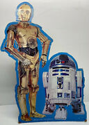 """Vintage 1983 Star Wars - Rd-d2 And C-3po Stand-up Advertising Display 30"""" X 20"""""""