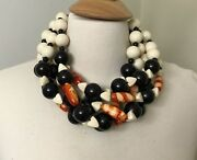 Gorgeous Multi Strand Acrylic And Resin Beads Designer Necklace