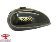 Norton 750 850 Interstate Commando Black Painted Gas Fuel Petrol Tank  fit For