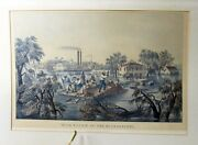 High Water In The Mississippi Great Currier And Ives Old 24x34 1/2 Artwork
