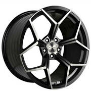 4ea 20 Staggered Stance Wheels Sf06 Gloss Black Tint Rims S4
