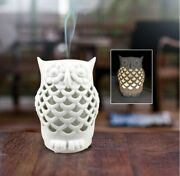 Owl - Usb Powered Ultrasonic Ceramic Essential Oil Diffuser W/led Changing Light