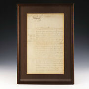 Signed By George Iii A Payment Request For American Regiment Of Foot 1795