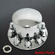 Chrome Plastic Rear Axle Cover W/ Removable Hub Cap - 33mm Thread-on Nut Cover