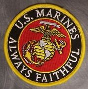 Embroidered Military Patch Usmc Marine Corps Globe And Anchor Always Faithful New