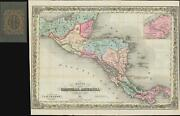 1851 Colton Map Of Central America - Illustrating The Mosquito Question