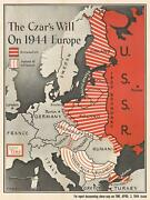 1944 Chapin Map Of Eastern Europe And The Soviet Union's Imperial Desires