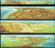 1969 Nystrom Panoramic Map View Of The United States - 18 Ft Long