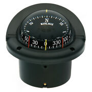 Ritchie Marine Hf-743 Helmsman Flush Mount Boat Compass With Combidial 12v Black