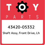 43420-05332 Toyota Shaft Assy Front Drive Lh 4342005332 New Genuine Oem Part