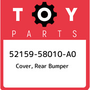 52159-58010-a0 Toyota Cover Rear Bumper 5215958010a0 New Genuine Oem Part