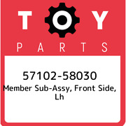 57102-58030 Toyota Member Sub-assy, Front Side, Lh 5710258030, New Genuine Oem P