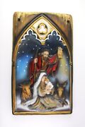 Holy Family Christmas Nativity Handmade Wood Carved Icon Solid Wood Picture 19