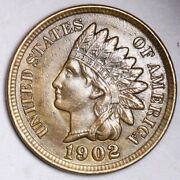 1902 Indian Head Small Cent Choice Unc Free Shipping E170 T