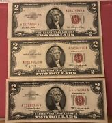 ✯ 1963two Dollar Note Red Seal ✯2 Bill ✯us Currency✯old Money✯