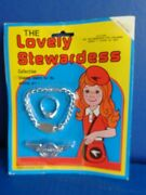 Vintage Toy Airline Stewardess 3 Piece Jewelry Set Mip- Hong Kong