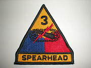 Lot Of 100 Each Us Army 3rd Armored Division Patches With Tab -full Color
