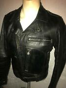 Vtg 50s Clean 38 Harley Davidson Motorcycle Horsehide Leather Cycle Champ Jacket