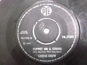Sandie Shaw Puppent On A String/tell Boys 1967 Rare Single India 45 Vg+