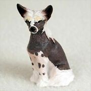 Chinese Crested Dog Figurine, Tiny Ones
