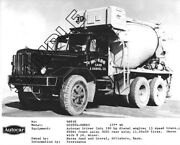 Morse Sand And Gravel - Autocar Dc99 And 8-yd Rex Mixer 30 8x10 Bandw Glossy Photo 3