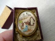 Antique Painted Meerschaum Clay Mary At Jesus Tomb Catholic Icon Relic Matchbox