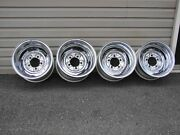 Vintage Chrome Reverse Wheels 15x8 15x10 5x5.5 Bc 1946-96 Ford Dodge Truck Jeep