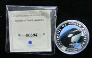 Liberia 10 Proof Wildlife Of North America - Orca - Free Shipping