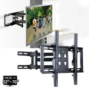 23-70 Inch Tv Wall Bracket Mount Tilt And Swivel With Spirit Level Double Arms