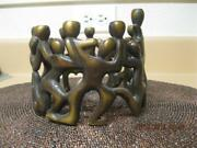 Hanukkah Menorah By David Rasnick Sculptor - Solid Bronze - Signed - Sells 2000
