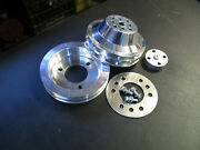 New Buick Nailhead Billet 2 Groove Pulleys 264-322 1953-1954-1955 To Add Ps