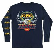 Fmf Racing Menand039s Flagship Long Sleeve Tee Fa9119900-nvy-md