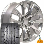 5920 Polished 20x9 Wheels Goodyear Tire Tpms Set Fit Gmc And Chevy Ltz