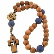 Olive Wood With Lapez Anglican Rosary 16cm Or 6.3 Long