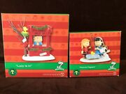 Dept 56 Peanuts Village Lot Lucy Is In And Peanuts Pageant New Snoopy