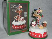 Enesco The Signs Of Christmas Rotating Musical Light's I'll Be Home For Xmas 7