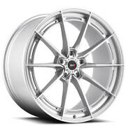 4ea 19/20 Staggered Savini Wheels Sv-f1 Brushed Silver Rims 19inch 20inch S11