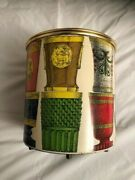 Ice Bucket With Bohemian Glasses Design By Piero Fornasetti With Label Under