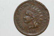 1874 Net About Uncirculated Rim Damage Indian Head Small Cent Coin Ipx831