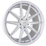 4ea 20 Staggered Xix Wheels Xf51 Silver Machined Flow Formed Rims S5