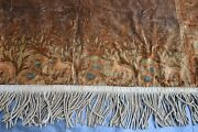 Antique Embroidered Curtains Pair 5'.8 X8'.6 Each Must See 364