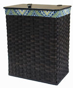 Clothes Hamper Amish Hand Woven Laundry Basket With Birch Wood Lid Usa Handmade