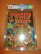 Tomb Of Terror 1 Cgc 7.0 Ow/w Rare Just 2 Sold Finer Ever 1952 Fn/vf Harvey