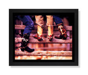 Old Cowboy Boots And Spurs Western Rodeo Wall Picture Black Framed Art Print